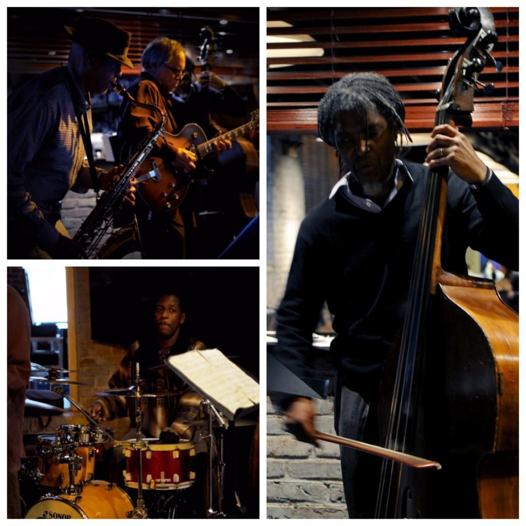 Manayunk Brewery Restaurant - Mélange Jazz Collective, Laurent Bass, soprano/tenor sax/blues harmonica; Kimpedro Rodriguez, drums; Steven Strawitz, guitar