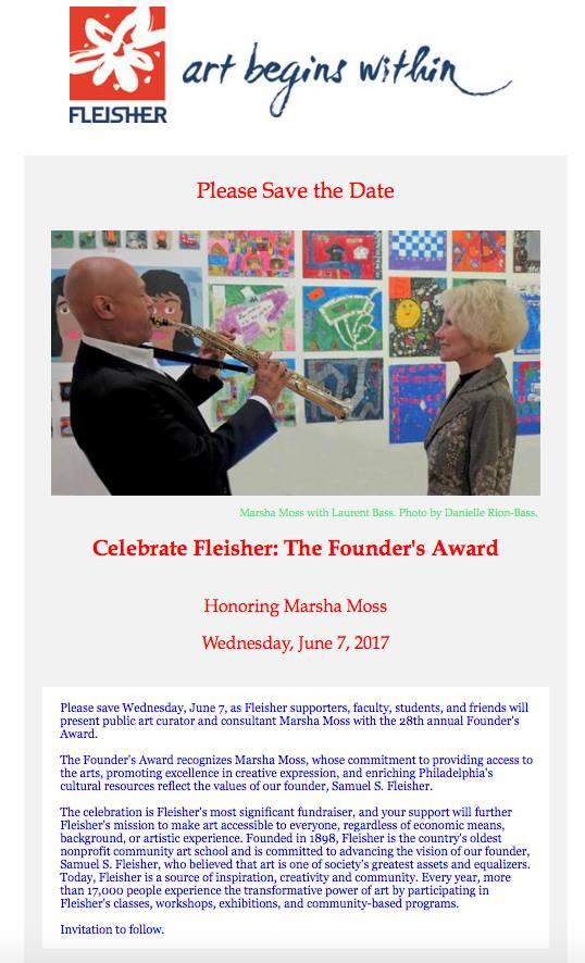 Fleisher 2017 Founders Award