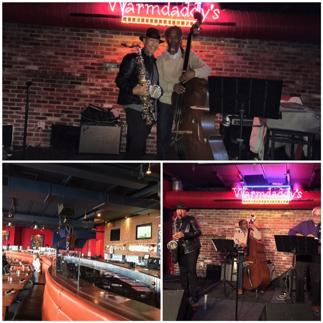 Mélange Jazz Trio, Warmdaddy's - saxophonist Laurent Bass, guitarist Steve Strawitz, bassist Bert Harris