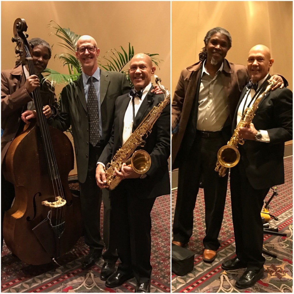 Mélange Jazz Trio, PA Convention Center - bassist Bert Harris, keyboardist Walter Runge, saxophonist Laurent Bass