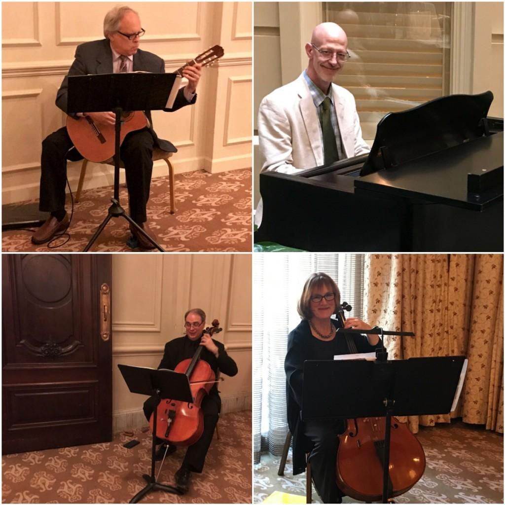 Guitarist Steven Strawitz, pianist Walter Runge, cellist Jim Holton, cellist Gael Abbasi
