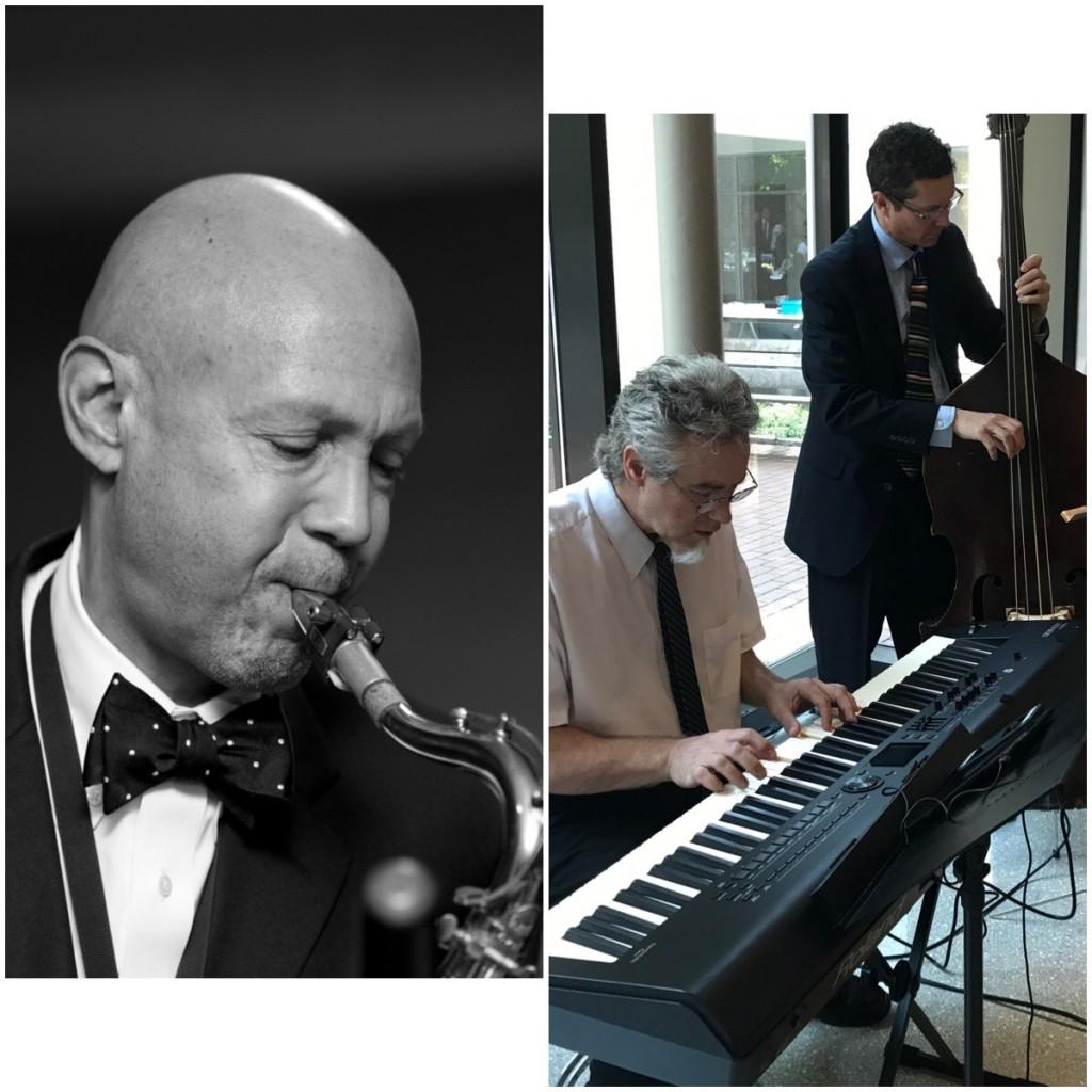Mélange Jazz Collective, saxophonist Laurent Bass, bassist Jason Fifield, pianist David Dzubinski